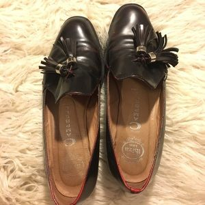 Jeffrey Campbell Lawford loafers (wine, 7.5)